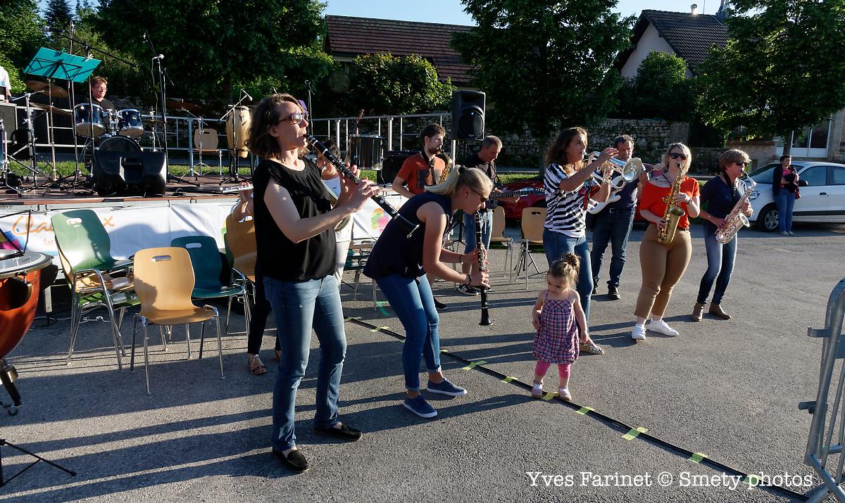 Fête de la musique 2019 à Clairvaux-les-Lacs: Union Musicale Clairvalienne. Yves Farinet - Smety photos
