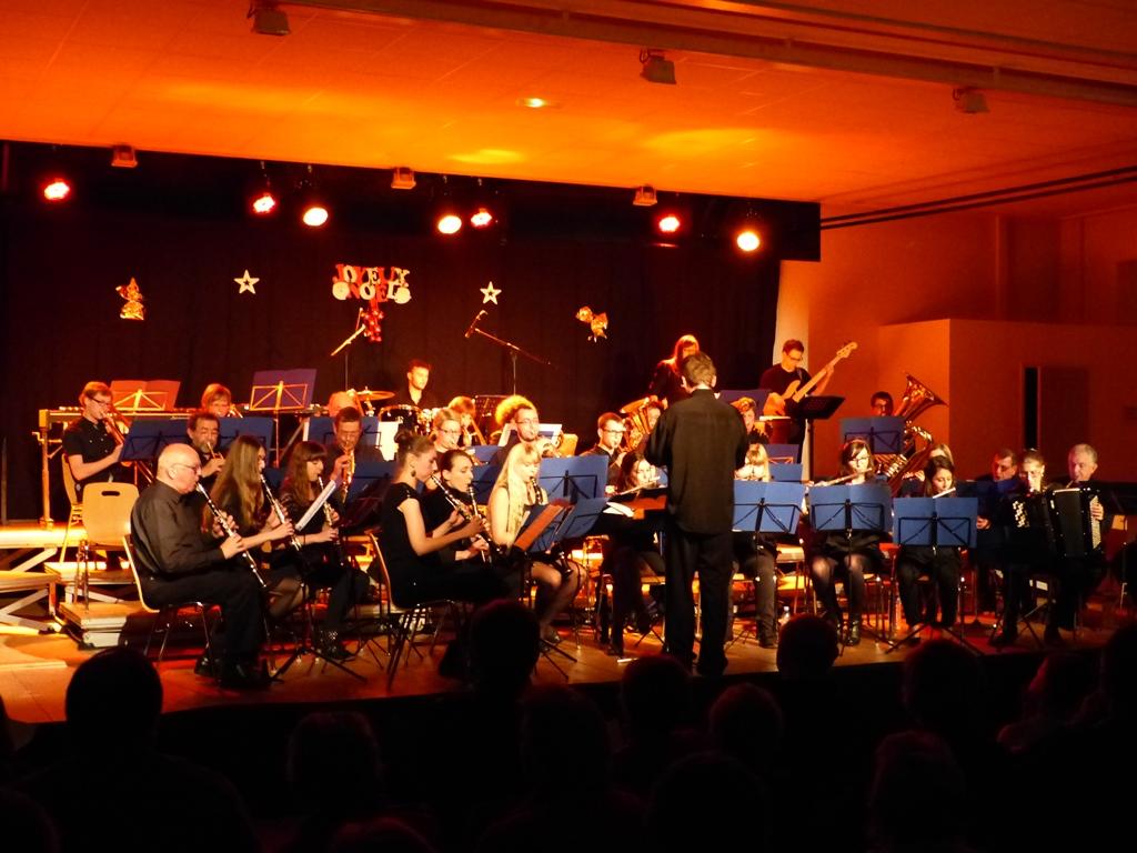 L'union musicale clairvalienne lors du concert de noël 2014