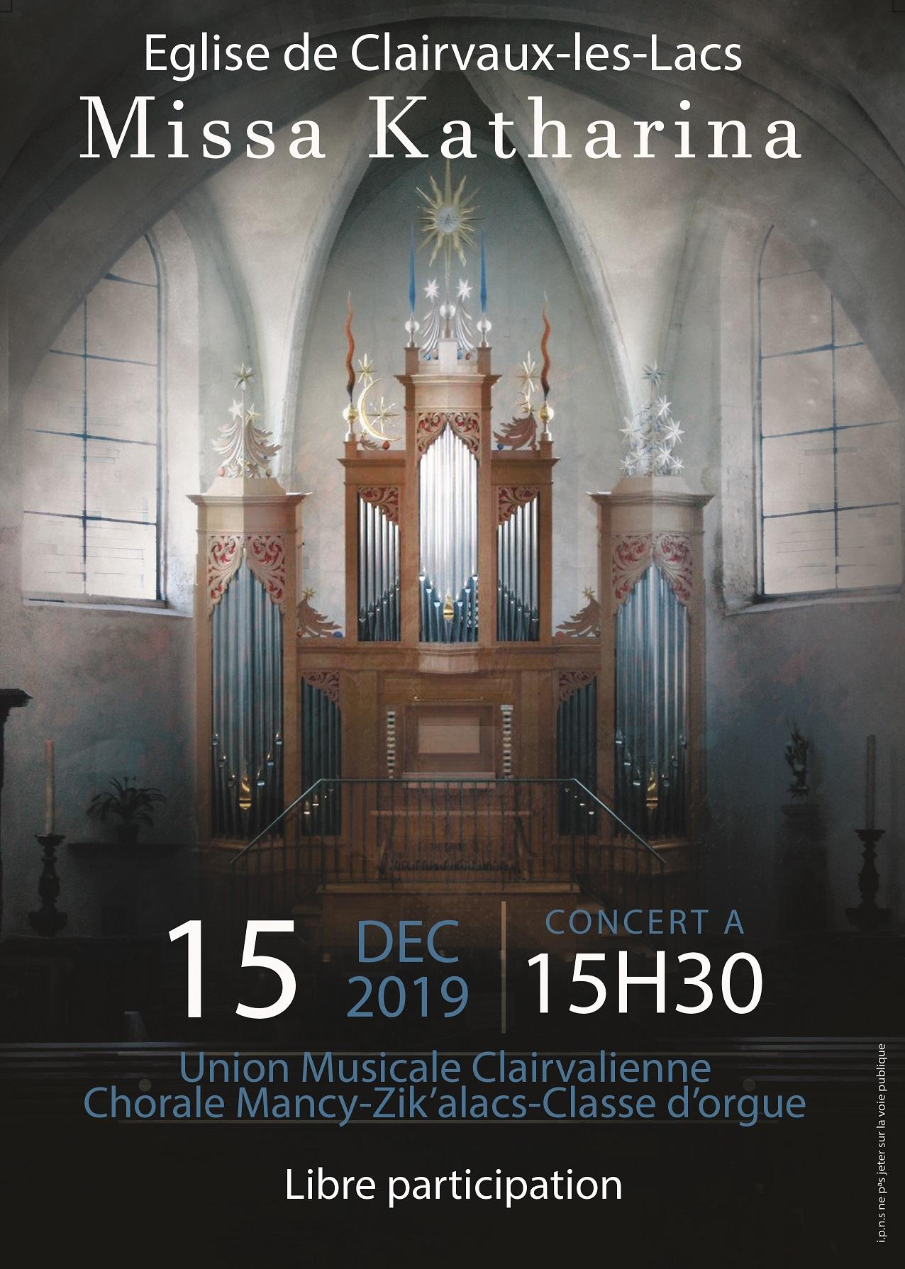Affiche du concert de Noël 2019 de l'UMC