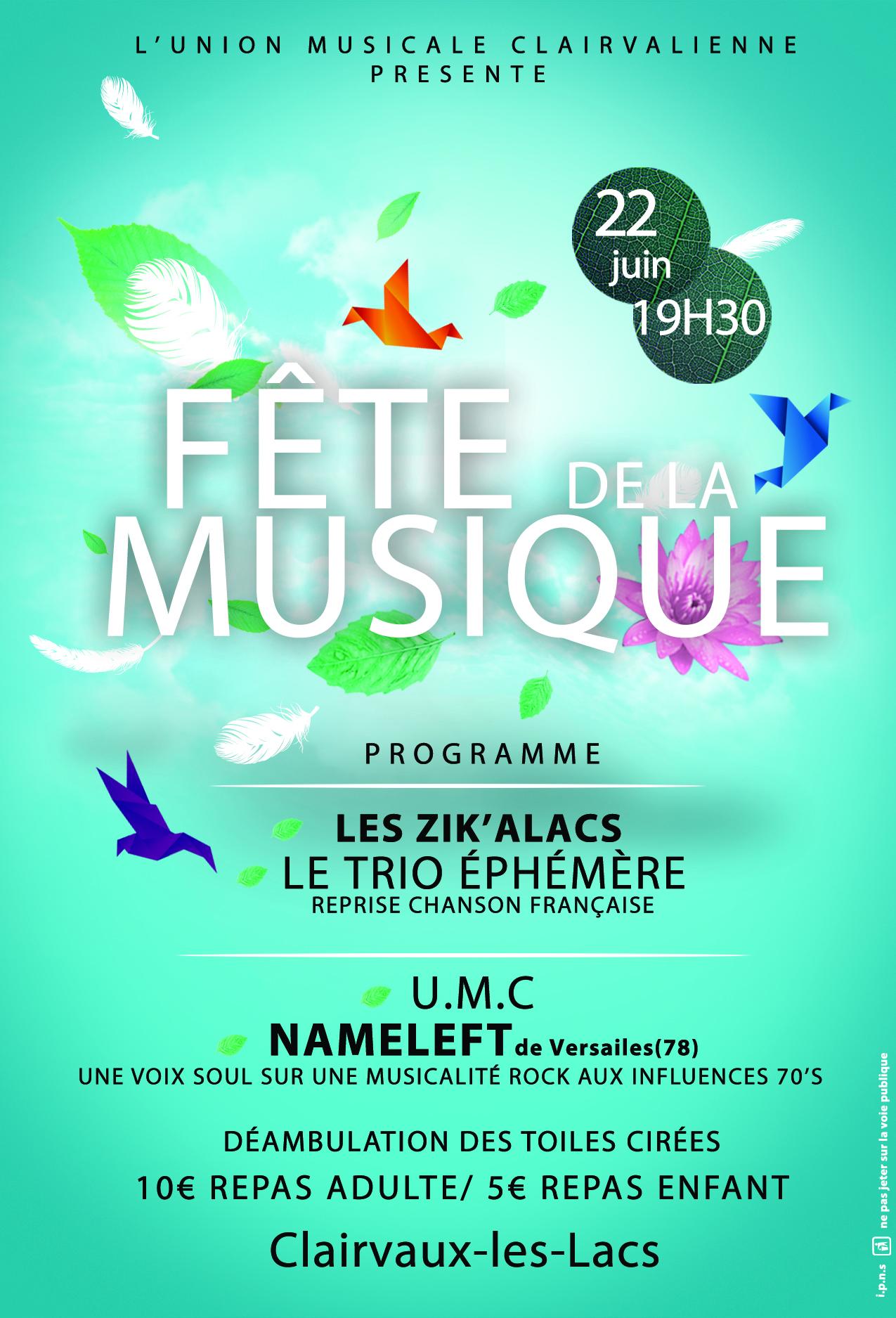Fête de la musique à Clairvaux-les-Lacs 2019