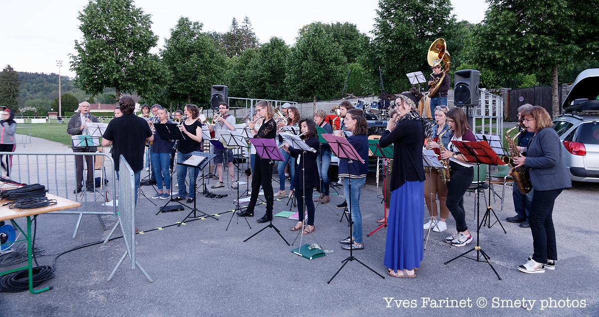 Fête de la musique 2019 à Clairvaux-les-Lacs. Union Musicale Clairvalienne. Yves Farinet - Smety photos